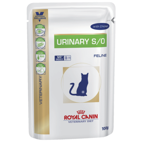 Royal Canin Urinary S/O Feline with Chicken (0.1 кг) 1 шт. Лечебные корма