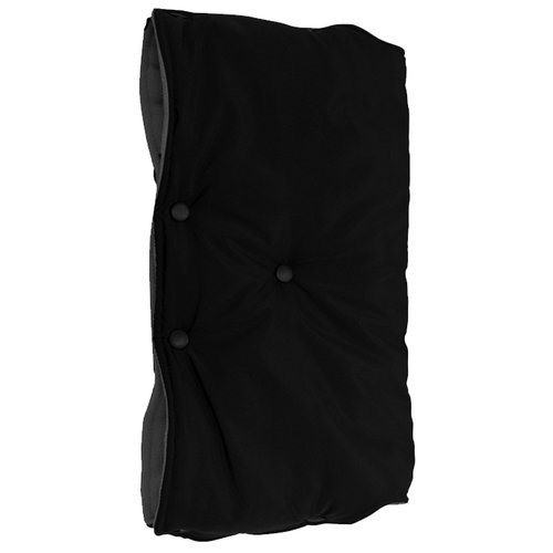 Купить Чудо-Чадо Муфта для рук флис/кнопки черный, Аксессуары для колясок и автокресел