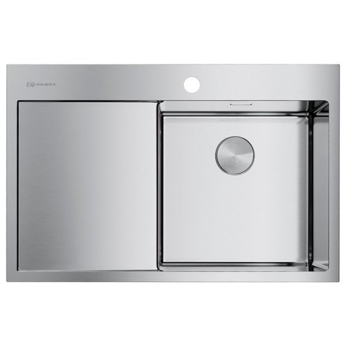 Фото - Врезная кухонная мойка 78 см OMOIKIRI Akisame 78-IN-R нержавеющая сталь врезная кухонная мойка 65 см omoikiri akisame 65 in r нержавеющая сталь