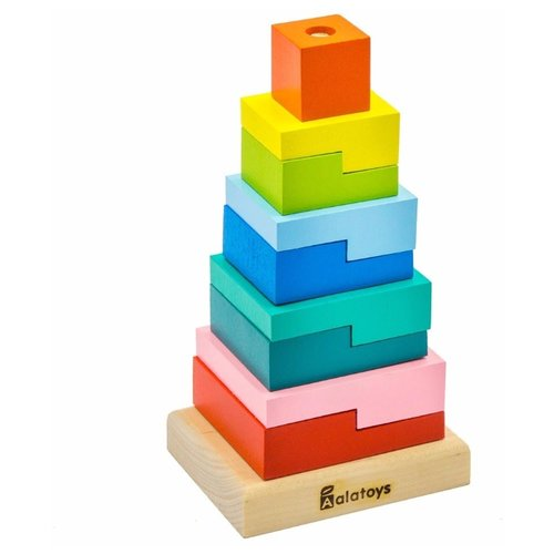Фото - Пирамидка Alatoys Ступеньки, 9 деталей деревянные игрушки томик пирамидка 9 деталей