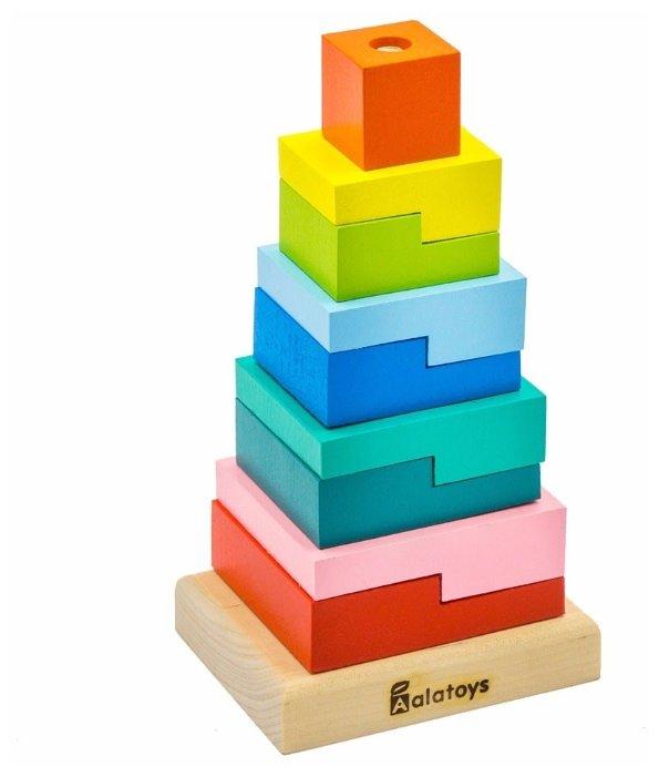 Пирамидка Alatoys Ступеньки, 9 деталей