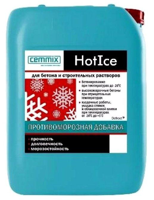 Добавка противоморозная Cemmix HotIce 10 л