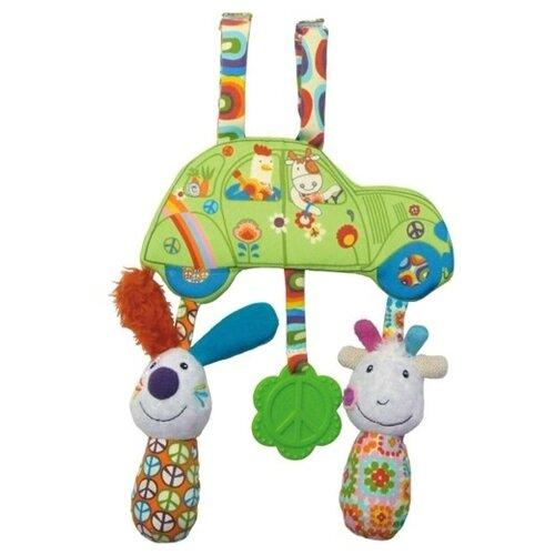 Купить Подвесная игрушка Ebulobo Веселая Ферма (E30018) зеленый/оранжевый, Подвески