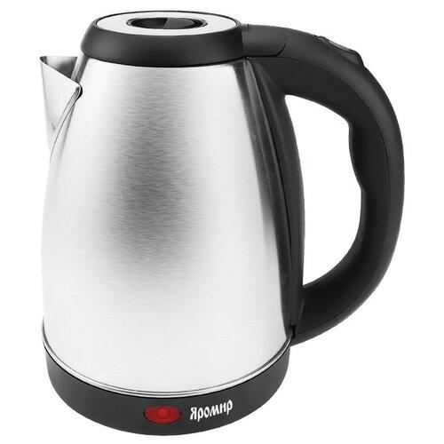 Чайник Яромир ЯР-1004, нержавеющая сталь/черный чайник электрический яромир яр 1056