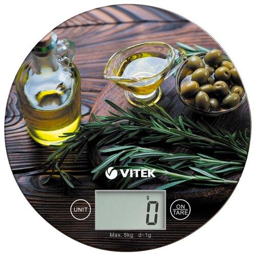 Кухонные весы VITEK VT-8029 коричневый/зеленый/желтый