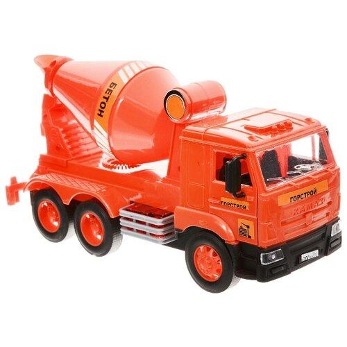 Бетономешалка ТЕХНОПАРК КамАЗ (WY302K) 25 см красныйМашинки и техника<br>