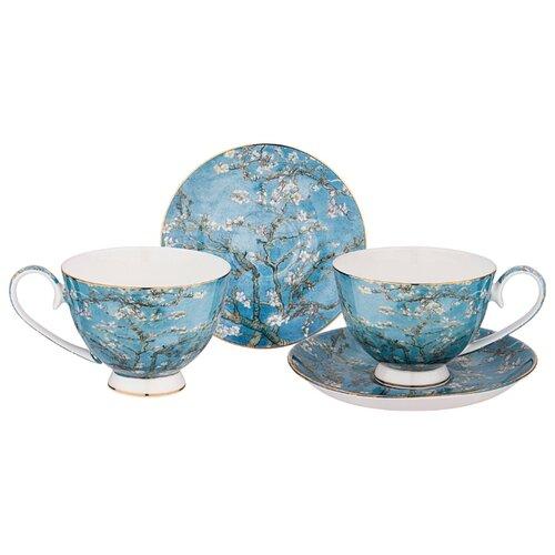 Фото - Набор чайный Lefard Цветущие ветки миндаля (В. Ван Гог) на 2 персоны, 4 предмета 250 мл (104-653) сервиз чайный из фарфора звездная ночь 2 предмета 104 649 lefard