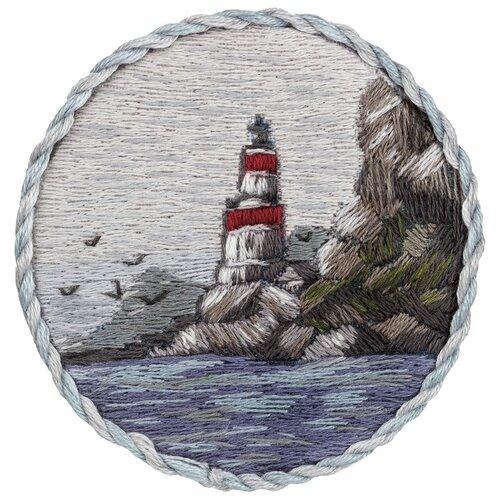 Купить PANNA Набор для вышивания Брошь. Маяк на берегу 5.5 х 5.5 см (JK-2191), Наборы для вышивания