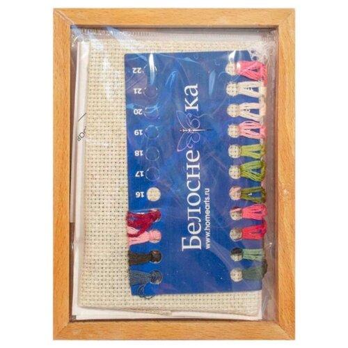 Вышивка 3Д,РК,рама,брелки,под. Белоснежка 104-EF Изящная розочка