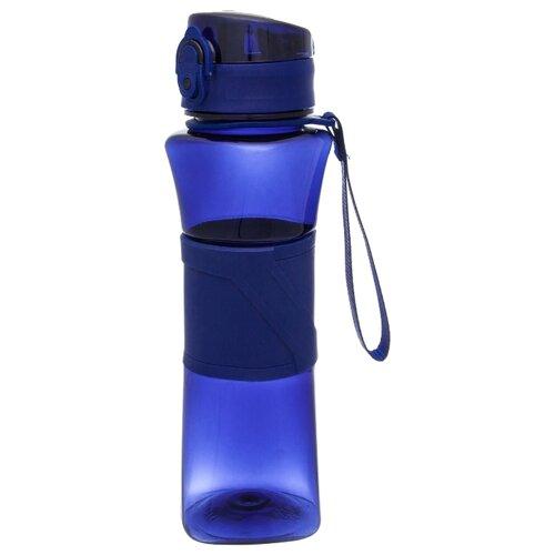 плед el casa el casa mp002xu0dv30 Бутылка для воды EL CASA с шнурком 0.55 пластик синий