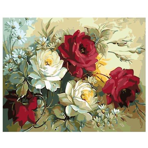 Купить Картина по номерам, 100 x 125, KTMK-flwrs01, Живопись по номерам , набор для раскрашивания, раскраска, Картины по номерам и контурам