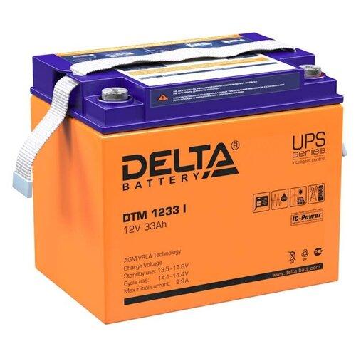 Аккумуляторная батарея DELTA Battery DTM 1233 I 33 А·ч аккумуляторная батарея delta battery dtm 1275 l 75 а·ч