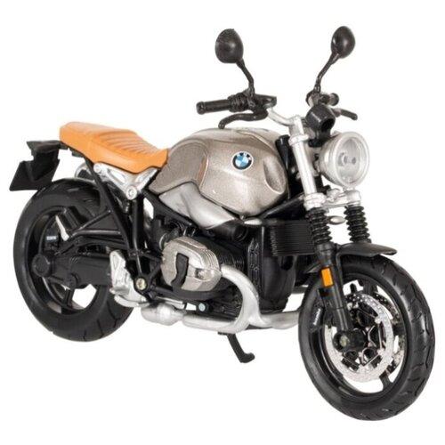 Купить Мотоцикл Maisto BMW R nineT Scrambler (39300/34) 1:18 серебро, Машинки и техника