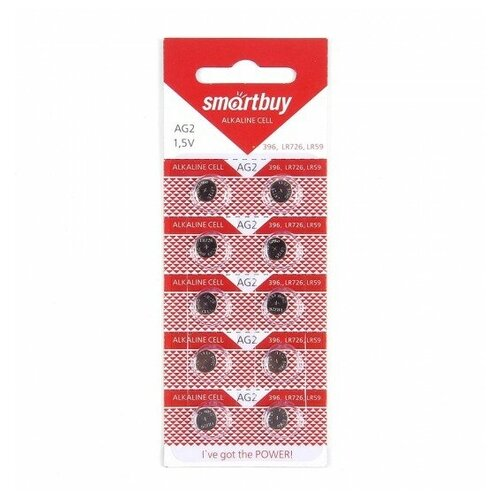 Фото - Элемент питания SMARTBUY AG2 (397) BL10 элемент питания smartbuy ag10 bl10 10 2000