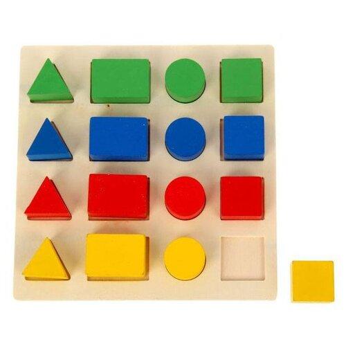 Развивающая игра Лесная мастерская Изучаем цвета и фигуры, 16 объемных фигур (465208) обучающий набор лесная мастерская изучаем цвета и овощи фрукты 3622858 разноцветный