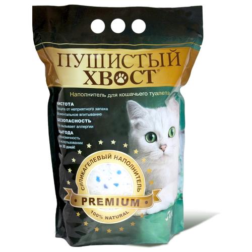 Силикагелевый наполнитель Пушистый хвост 10 л./4кг.