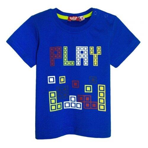Купить Футболка Let's Go, размер 74, синий, Футболки и рубашки