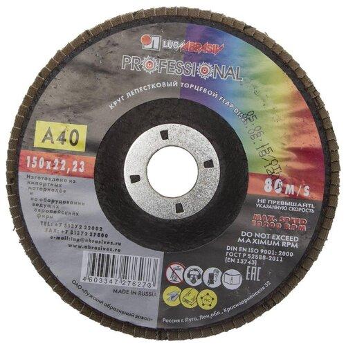 Лепестковый диск LUGAABRASIV 3656-150-40