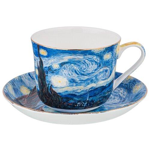 Фото - Набор чайный Lefard Звездная Ночь (В. Ван Гог) на 1 персону, 2 предмета 500 мл (104-649) сервиз чайный из фарфора звездная ночь 2 предмета 104 649 lefard