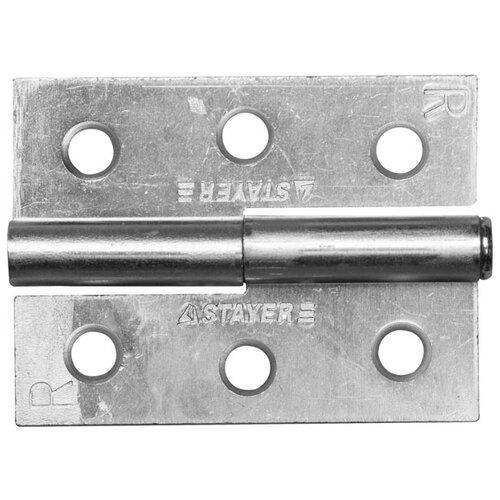 Врезная петля STAYER MASTER правая 65x48x2 мм белый цинк