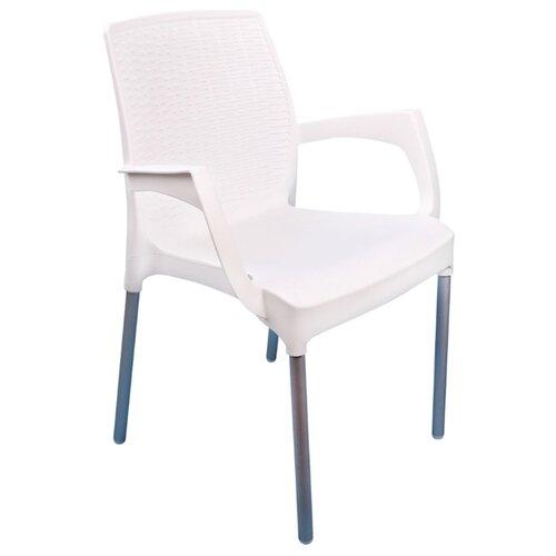 КРЕСЛО ПЛАСТ. ПРОВАНС (БЕЛОЕ) АЛЬТЕРНАТИВА М6325 товары для дачи и сада альтернатива башпласт кресло прованс