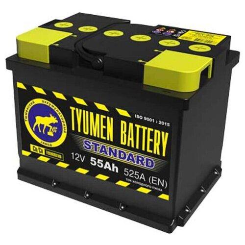 TYUMEN BATTERY Аккумуляторная батарея автомобильная 55 A/h обратная полярность