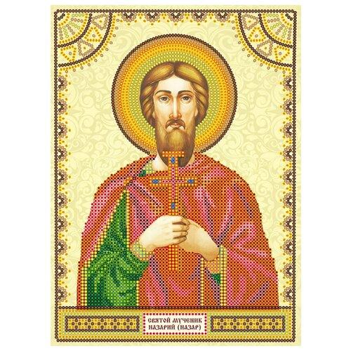 Купить ABRIS ART Схема для вышивания бисером Святой Назарий (Назар) 17 х 23 см (ACK-136), Наборы для вышивания