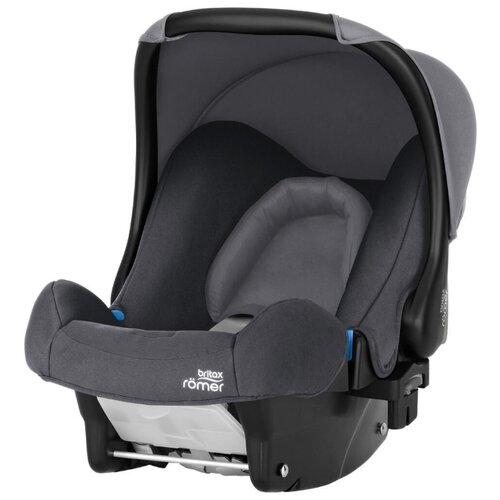 Автокресло-переноска группа 0+ (до 13 кг) BRITAX ROMER Baby-Safe, Storm Grey автокресло группа 1 2 3 9 36 кг little car ally с перфорацией черный