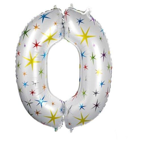 Фото - Шар фольгированный Страна Карнавалия 40 Цифра 0, разноцветные звезды (4640233) воздушный шар страна карнавалия цифра 5 сиреневый