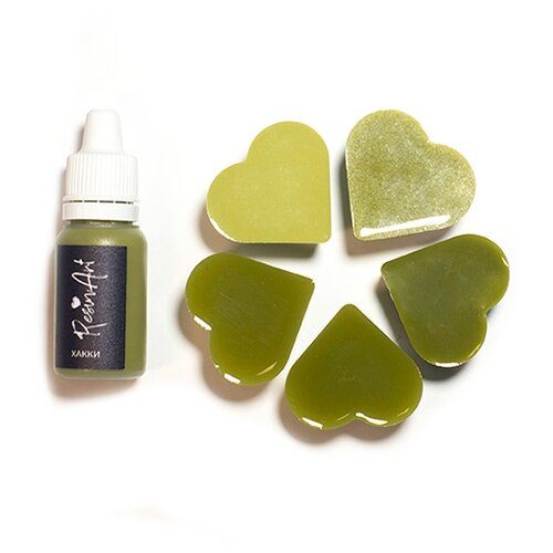Купить Краситель для эпоксидной смолы ResinArt, хаки, 10 мл, Вспомогательные жидкости