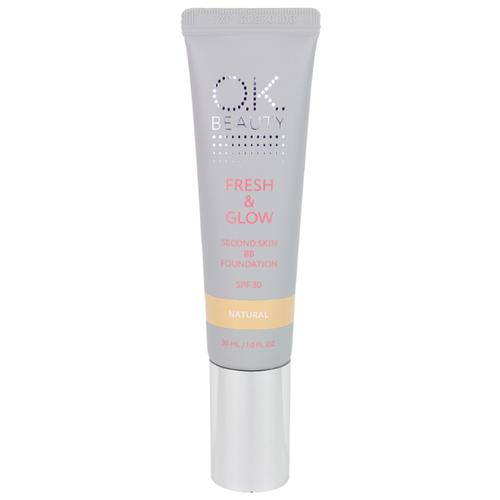 Фото - OK Beauty BB крем Fresh&Glow, SPF 30, 30 мл, оттенок: natural витэкс bb крем тонирующий уход spf 15 30 мл оттенок 51 natural