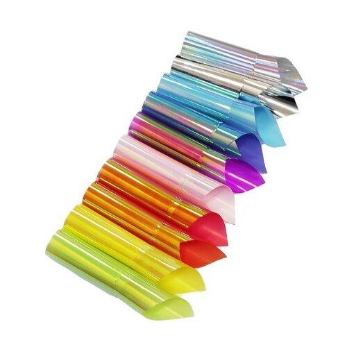 Набор: фольга De.Lux Битое стекло, 10 шт. разноцветный набор фольга de lux битое стекло 5 шт прозрачный