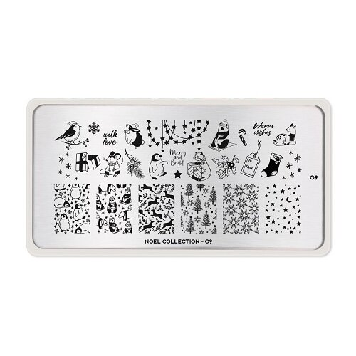 Купить Трафарет MoYou London Noel №09 12.5 х 6.5 см silver