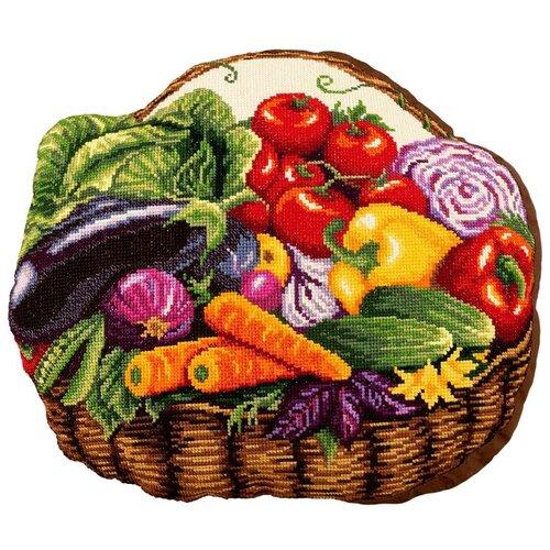 Купить PANNA Набор для вышивания Подушка Овощная корзинка 40.5 x 35 см (PD-7012), Наборы для вышивания