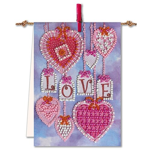 Купить ABRIS ART Набор для вышивания бисером Флажок Подвески 9 х 13 см (AT-003), Наборы для вышивания