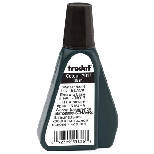 Штемпельная краска Trodat 7011ч черная, 28 мл