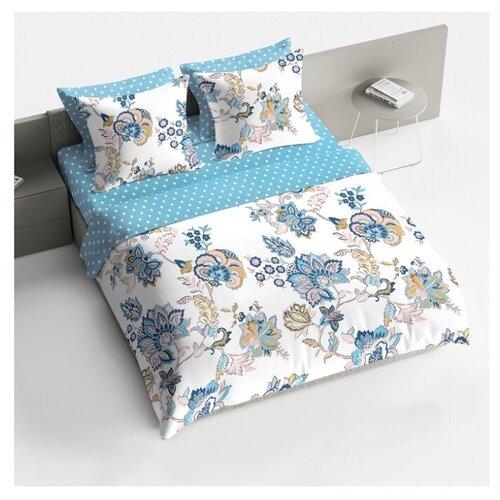 Фото - Постельное белье 2-спальное макси BRAVO Флориан, поплин, 70 х 70 см голубой/белый постельное белье 2 спальное макси guten morgen 884 поплин 70 х 70 см голубой белый