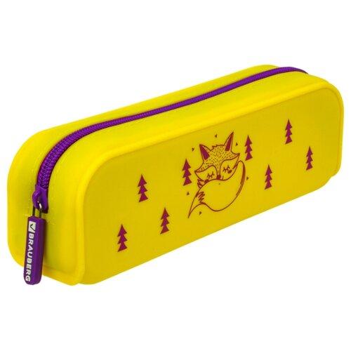 Купить BRAUBERG Пенал-косметичка Fox (229029) желтый, Пеналы
