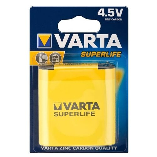 Батарейка VARTA SUPERLIFE 3R12 4.5V, 1 шт. батарейка varta v364 10 шт