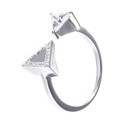 ELEMENT47 Кольцо из серебра 925 пробы с фианитами R-F0659-KO-001-WG, размер 18.25