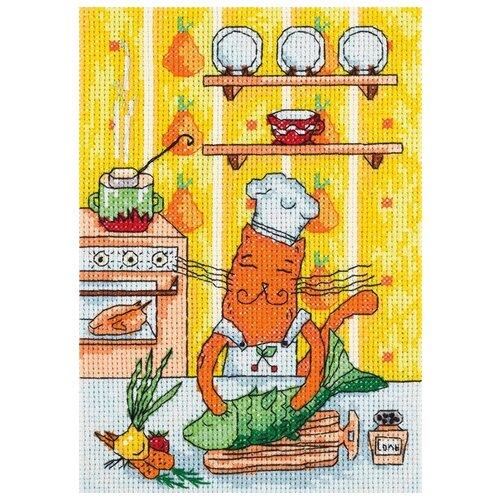 Купить Klart Набор для вышивания Кот-кулинар 13 x 18 см (8-219), Наборы для вышивания