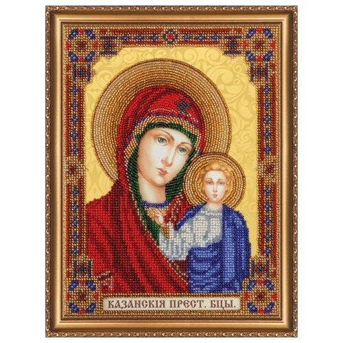 Набор для вышивания бисером АБРИС АРТ AB-294 Домашний иконостас Богородица 19х25 см