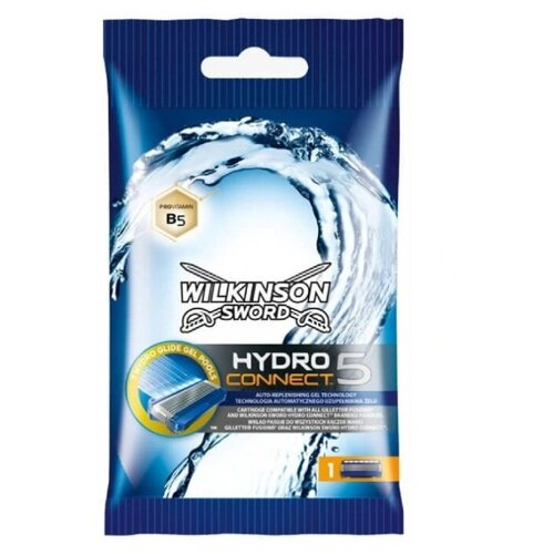 Wilkinson Sword / SCHICK / Hydro5 CONNECT (FUSION) / Сменные кассеты для бритвы (1 шт.)