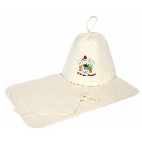 Банные штучки Набор для бани Хозяин бани белый