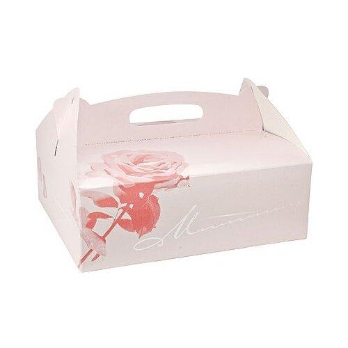 Коробка для пирожных PAPSTAR ДхШхВ 260х220х90 мм картон розовая 1 уп 15 шт