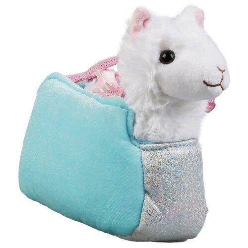 Купить Мягкая игрушка Мой питомец Лама в сумочке 16 см, Мягкие игрушки