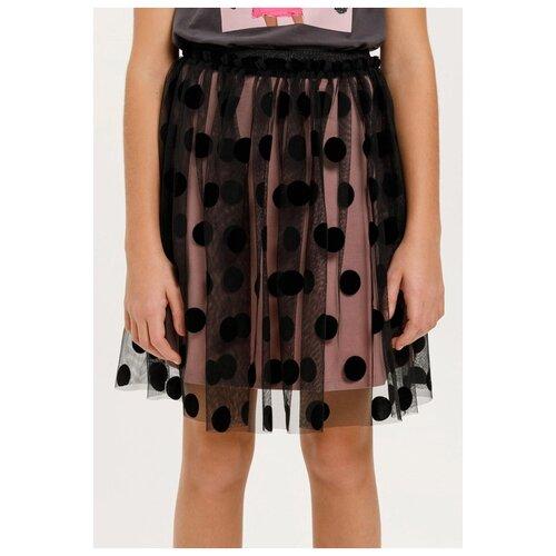 Юбка Sela размер 146 (11-12лет), черный брюки sela размер 146 коричневый
