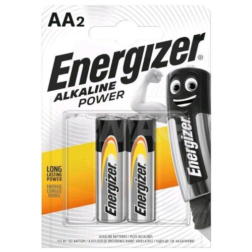 Батарейка Energizer Alkaline Power AA, 2 шт. батарейка energizer alkaline power lr20 d алкалиновая 2 шт