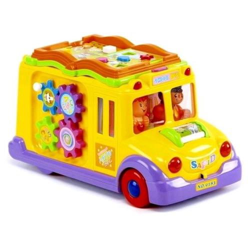 Развивающая игрушка PLAY SMART Весёлый автобус с животными на батарейках, голоса животных, книжка с эффектами, интерактивная