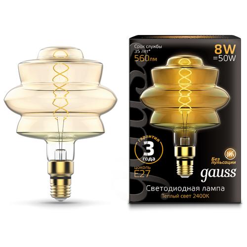 Лампа светодиодная gauss 161802008, E27, 8Вт лампа светодиодная gauss 102802108 e27 a60 8вт